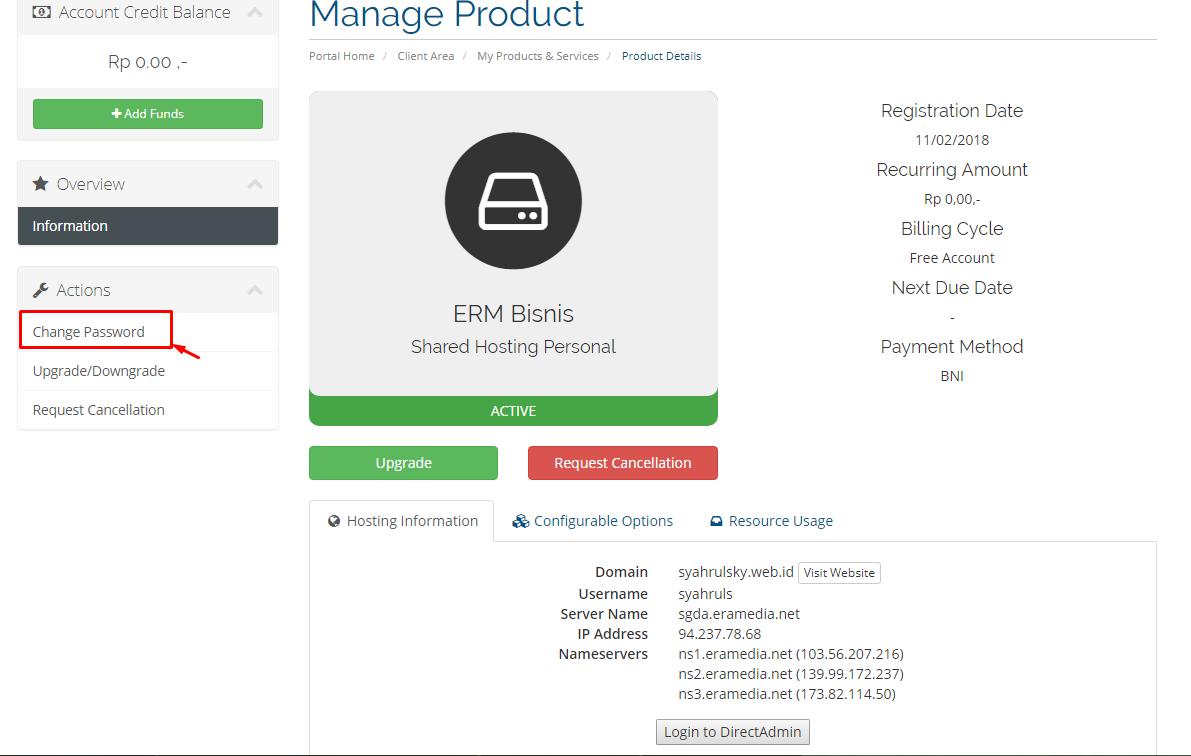 produk hosting DirectAdmin
